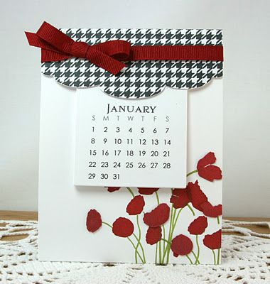 Stand Up Calendars in room colors, inspiration pages, on birthday month,  a whole page of birthday wishes