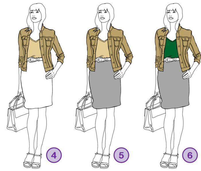 Wie Sie neutrale Farben und Akzentfarben so platzieren, dass das Outfit schlank macht, erfahren Sie bei www.modefluesterin.de