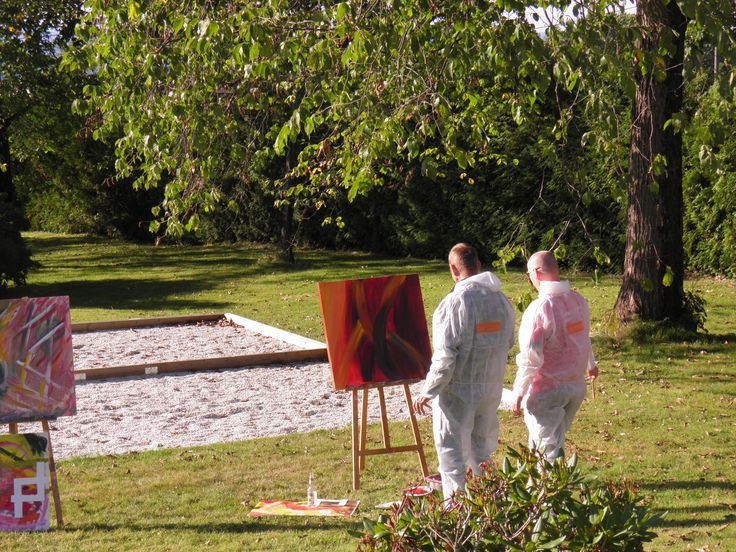 Painting course, painting, art, abstract painting, Learn how to paint with an artist. Hotel Refsnes Gods