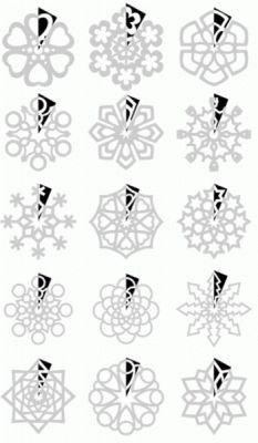 Pliages et découpages pour flocons de neige