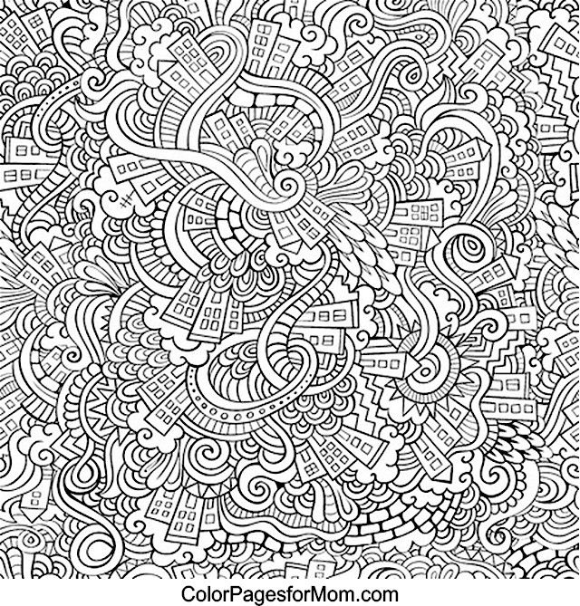 338 best Doodle Invasion Coloring Pages images on Pinterest