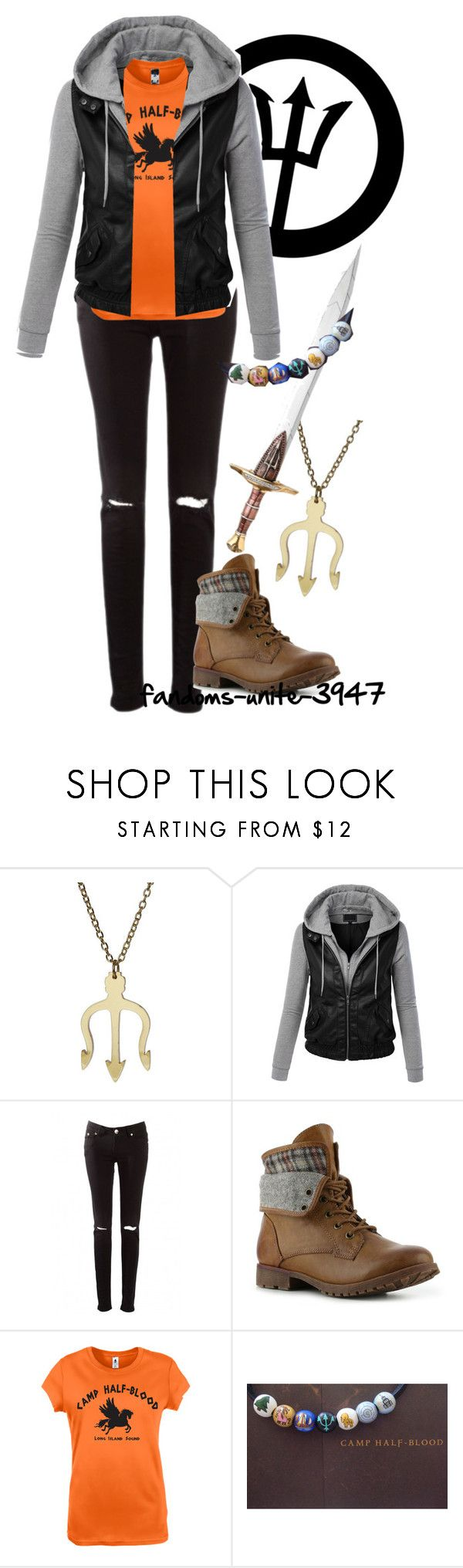 """""""DIY Halloween Costumes: Percy Jackson"""" by fandoms-unite-3947 ❤ liked on Polyvore featuring LE3NO and Rock & Candy"""