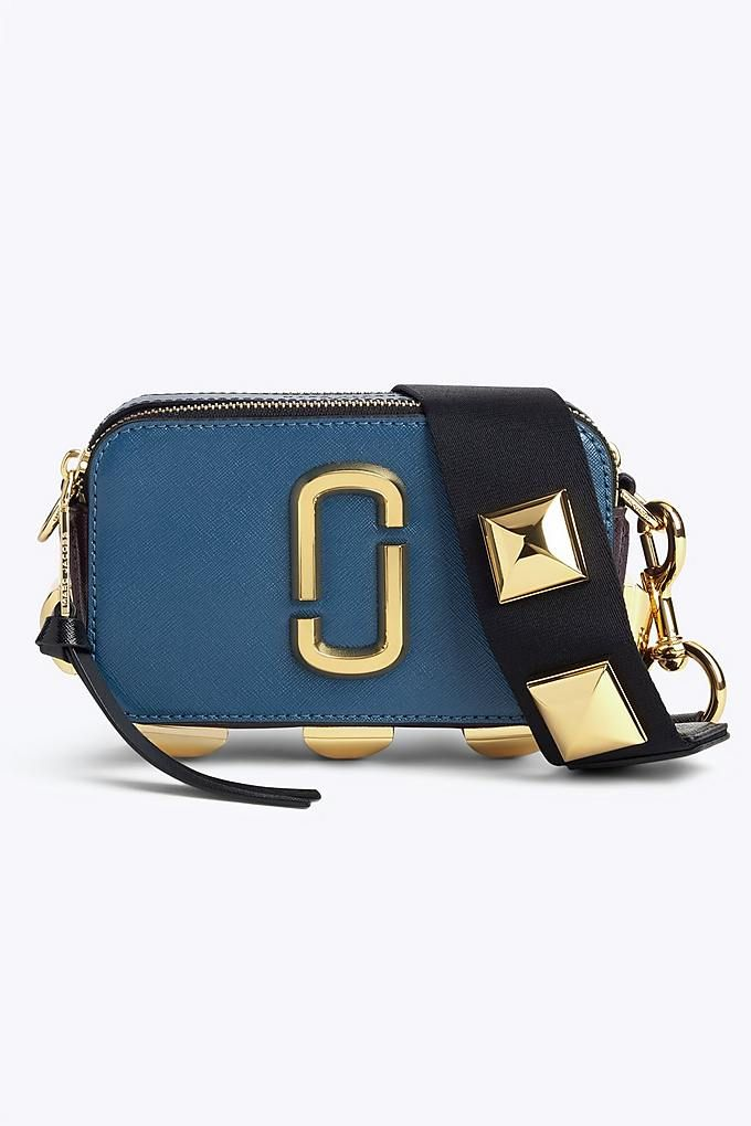 1355cd9608892 Marc Jacobs Studded Snapshot Small Camera Bag in Teal Multi | Marc ...