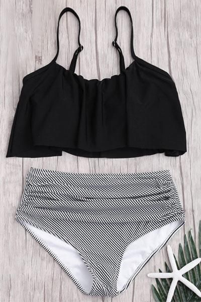 684fd7f8990fd Seaside Gale Falbala High waisted Swimsuit in 2019 | Swimin ...