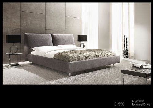 Contemporary upholstered double bed - ID.550 NIGHT-SYSTEMS B-STYLE - ArchiExpo