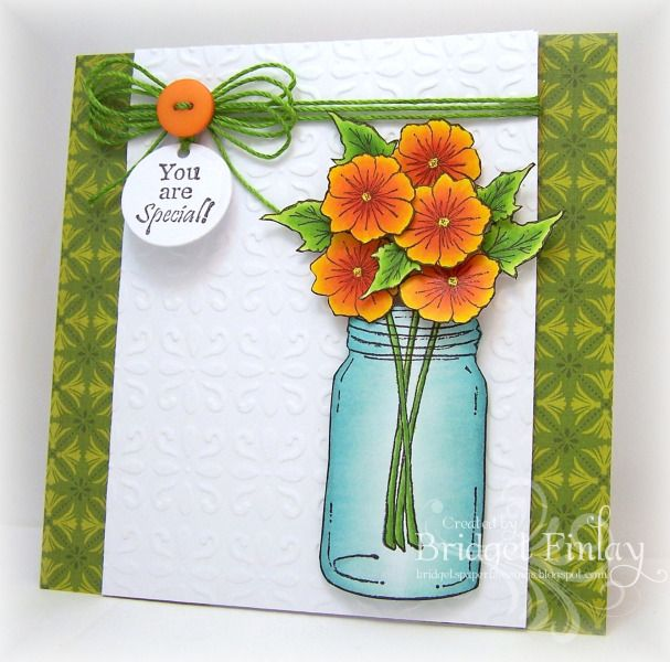 FS330 Jar of Flowers - what a truly beautiful card - I love all the colours and its freshness - brilliant!