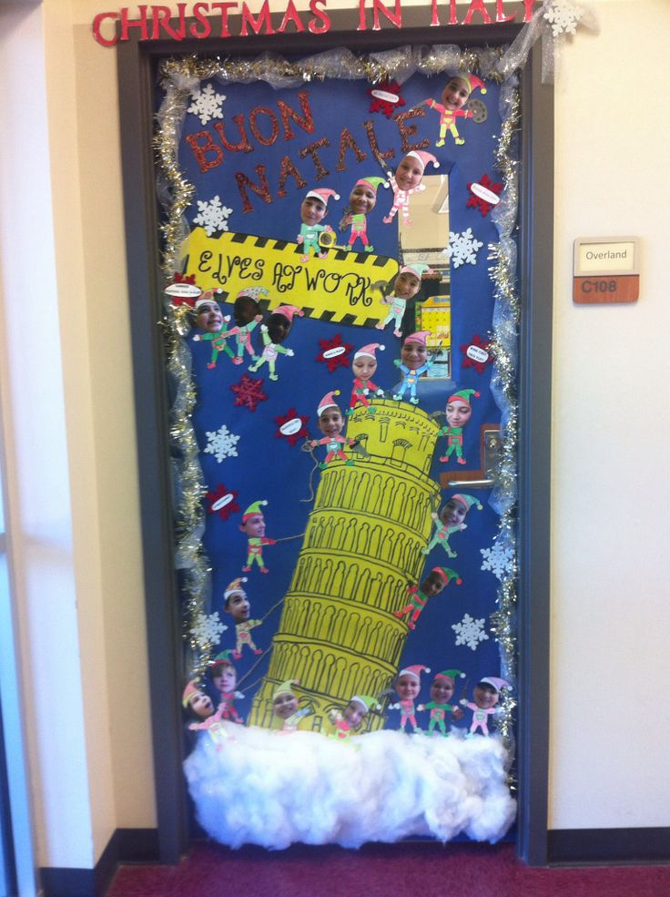 Christmas Classroom Decorations Teachers : My classroom door christmas around the world italy