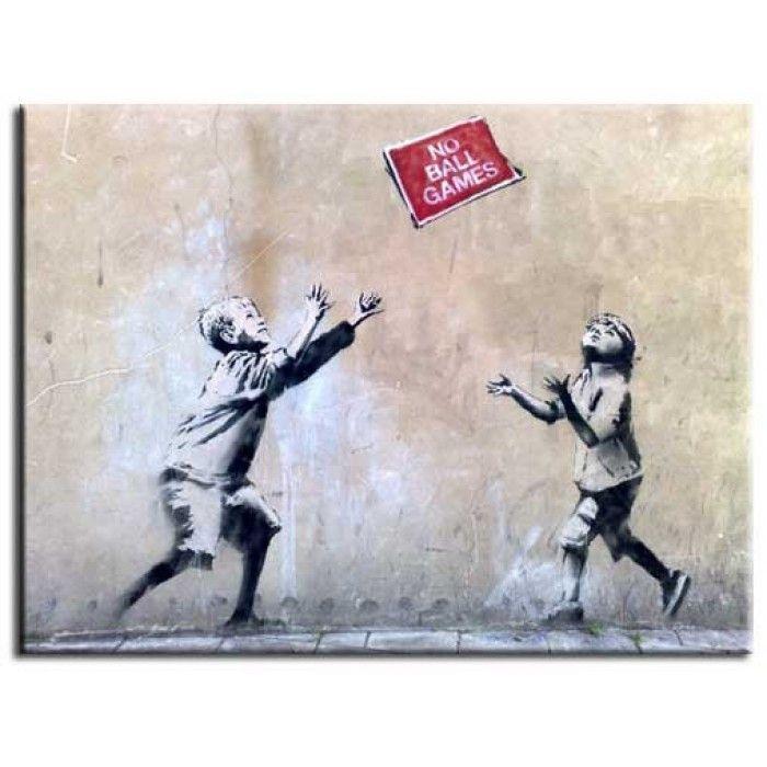 The Banksy Shop - Banksy Canvas Print - No Ball Games, £29.95 (http://www.thebanksyshop.co.uk/banksy-canvas-print-no-ball-games/)