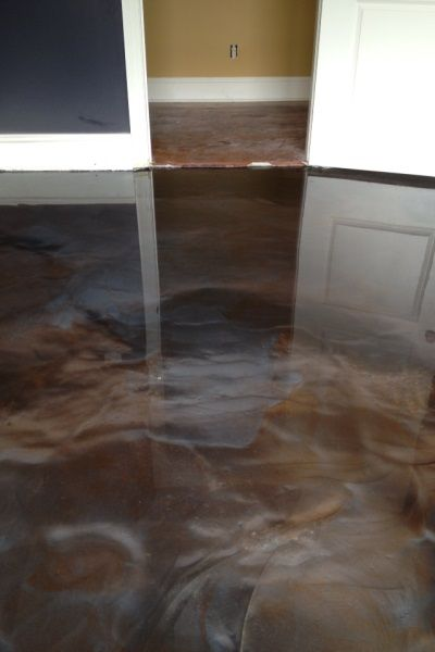 Metallic Epoxy Stained Concrete New Orleans La Stained