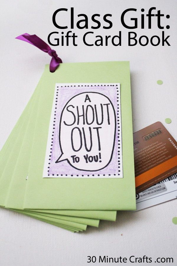 Class Teacher Appreciation Gift Gift Card Book Could Also Be Used