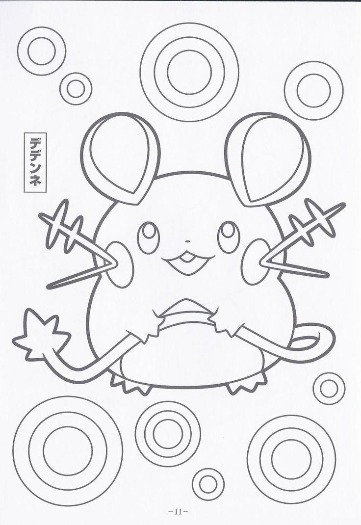 Name Dedene Color Pokemon coloring