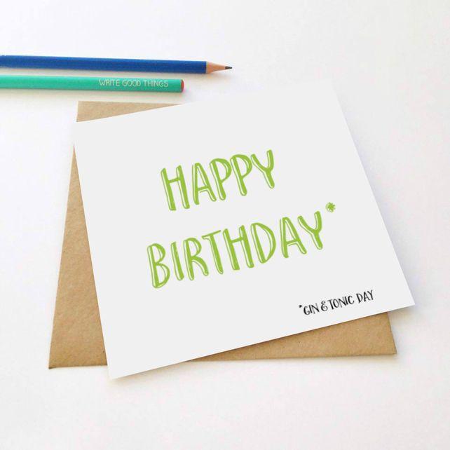 Birthdays & Gin Greeting Card