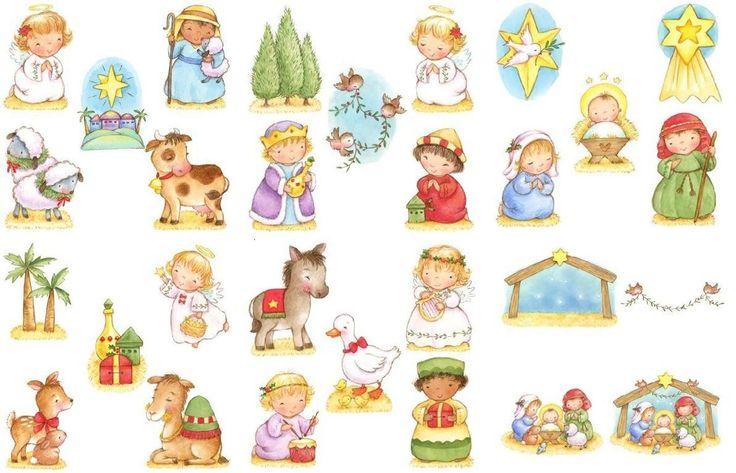 Nacimiento de jesus para recortar y armar buscar con - Figuras belen infantil ...