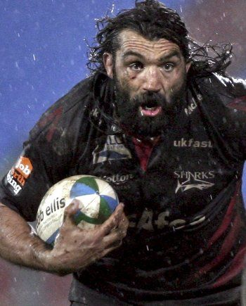 Sébastien Chabal, aka The Caveman, french rugby player. Not sure where he got the nickname...