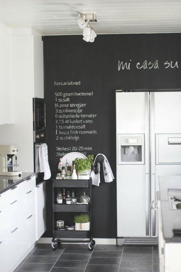 Creative kitchen chalkboard ideas Small kitchen decor
