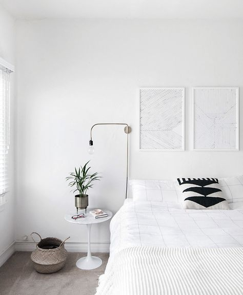 how to decorate white bedroom scandinavian style