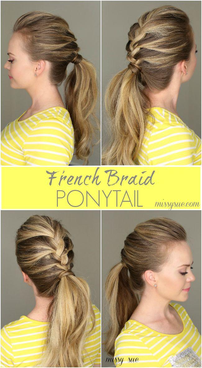 French Braid Ponytail   MissySue.com