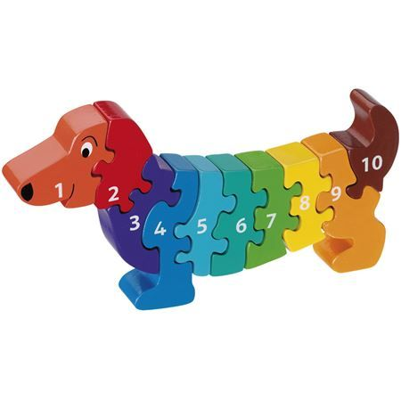 Buy a Dachshund 1 - 10 Number Puzzle from Mulberry Bush, the UK online toy shop for Traditional and Wooden Children's Toys, Gifts and Games