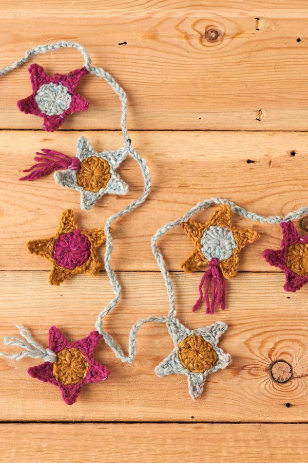 Crochet star garland | Crochet Patterns | final2 | Mollie Makes