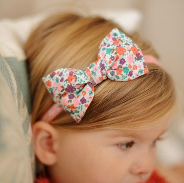 glitter hairband with jersey bow by a little lady