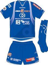GNK Dinamo Zagreb home kit for 2007-08.