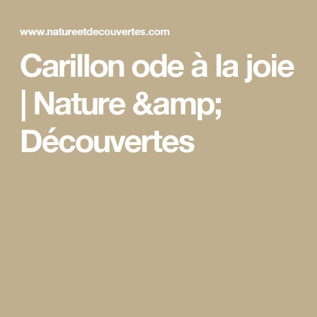 Carillon ode à la joie | Nature & Découvertes