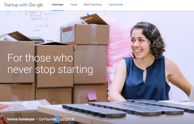Google brings its resources for founders and startups to a single site
