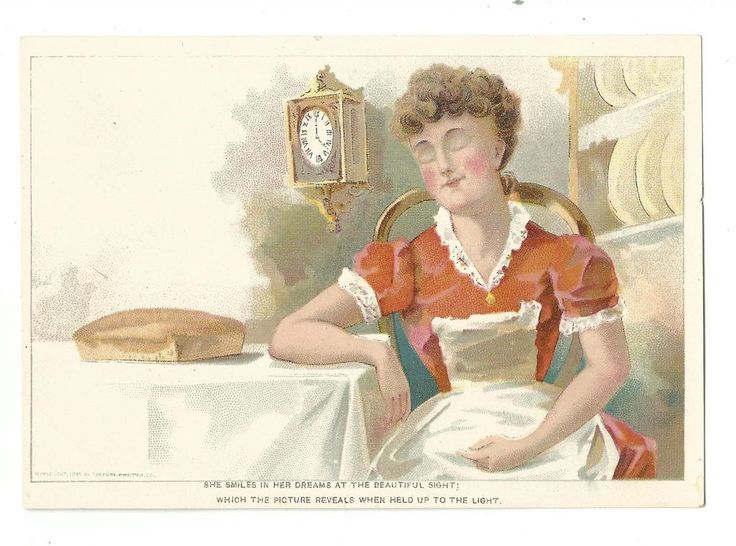 1890 HOLD TO LIGHT Trade Card The Pure Baking Powder Loaf Bread Eyes Open