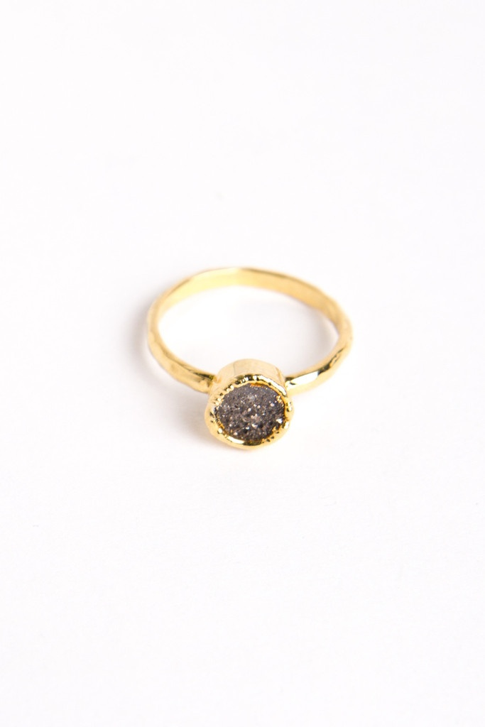 Mini Druzy Rings by LMV