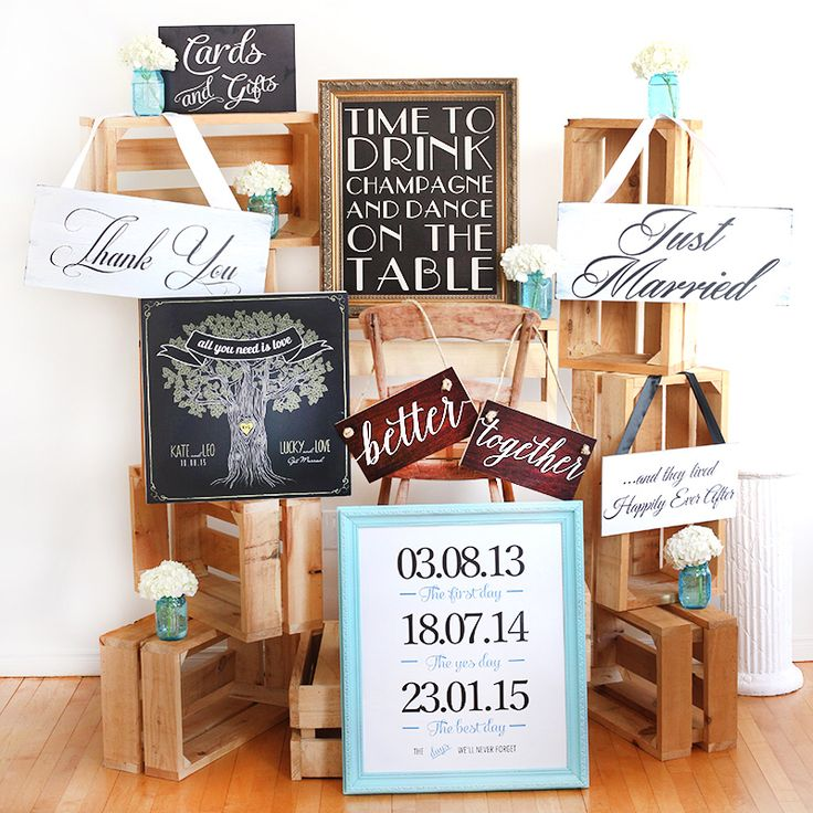 Wedding sign package. The perfect photo and decor props. $250 for 7 signs. To order please visit our website www.aboutimage.ca. Free Canadian shipping.