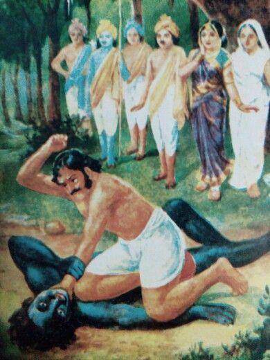 bhim kills hidimba