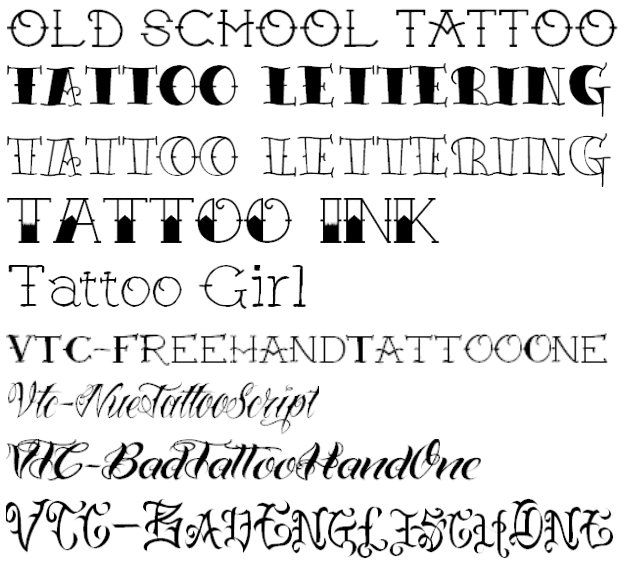Old School Tattoo Lettering Traditional Tattoos