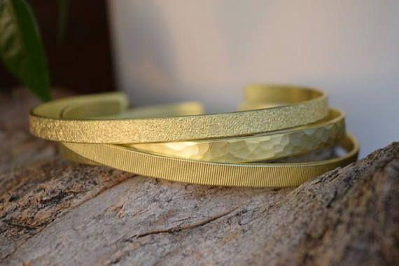 #HammeredBracelets #GoldCuffs #BrassBangle