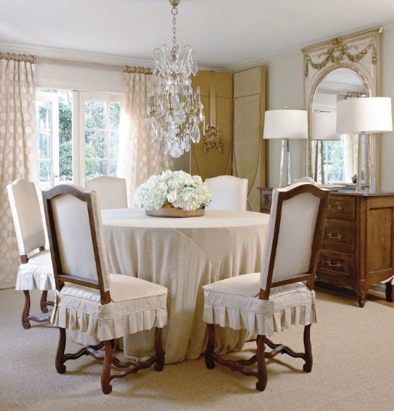Dining Room From Country French Magazine Cushioned Seat Covers