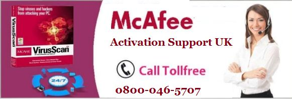 When you have issue in McAfee activation then dial 0800-046-5707 McAfee Activation Support Number UK.
