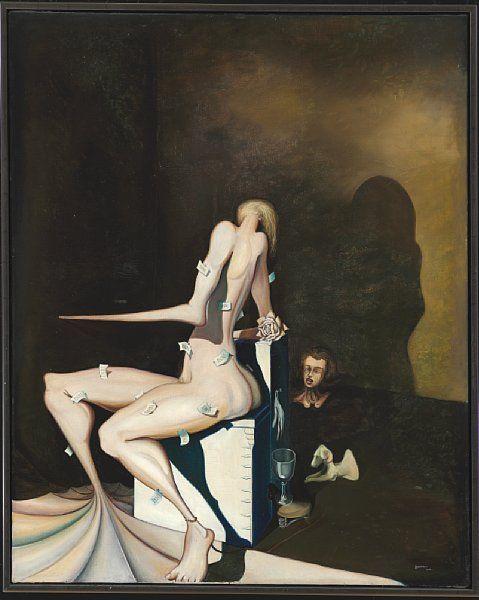 "Wilhelm Freddie: ""Nonnens bøn"". Sign. Freddie 1937. Olja på duk. 125 x 101 cm. Värdering: 300 000 danska kronor."