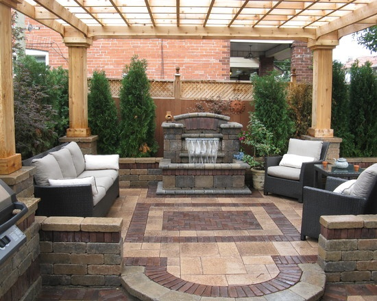 Fireplace And Pergula And Water Design, Pictures, Remodel, Decor and Ideas