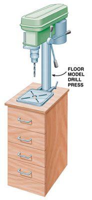 Drill press cabinet #Drill Press #woodworking #projects #diy