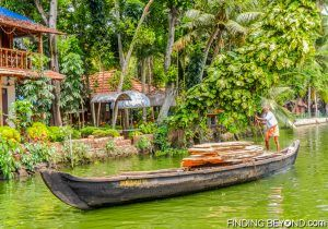 Local man passing by. Must See Places in Kerala - Kerala Backwaters.