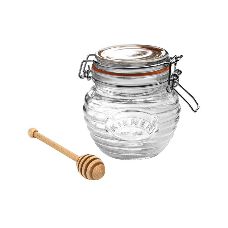 KILNER CLIP TOP 0.4LT HONEY POT WITH DIPPER