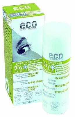 eco cosmetics Day+ Gesichtscreme LSF 15 (bio, vegan) Tagescreme mit Sonnenschutzsparen25.com , sparen25.de , sparen25.info