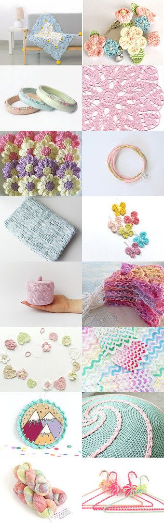maRRose - CCC: Treasury Tuesday, Pretty in Pastel-Crochet by Marianne Dekkers-Roos on Etsy--Pinned+with+TreasuryPin.com