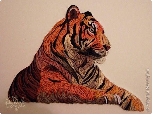 Schilderen Craft muurschildering tekening product februari 23 maart 8 Verjaardag Quilling Papier Quilling koning der dieren bandfoto 2