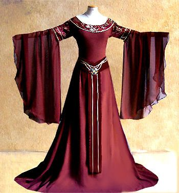 TRAUMSCHÖNES KLEID ARWEN *Maßanfertigung* Feen Elfen Brautkleid