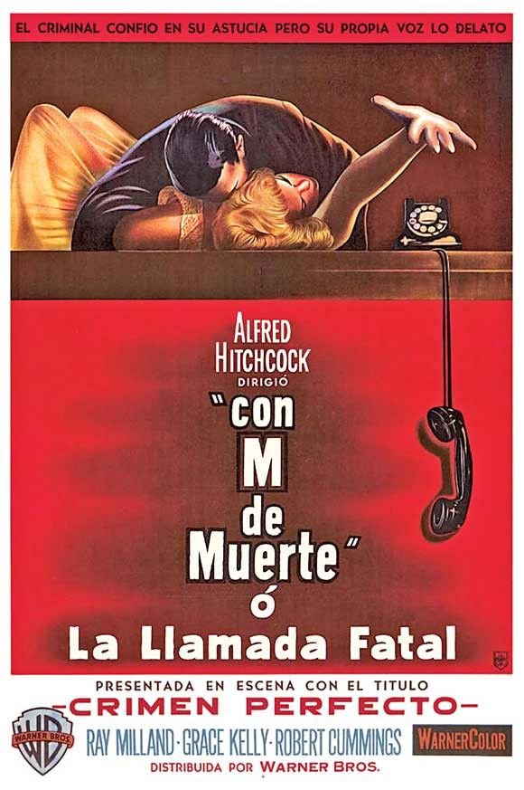 Dial M For Murder (Argentine) 27x40 Movie Poster (1954)