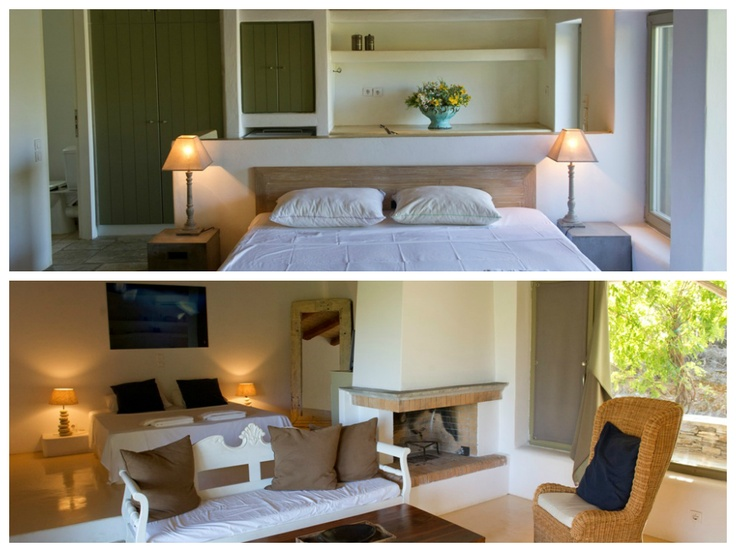 Which of those two rooms would you pick for your next holiday ? #Onar #Andros