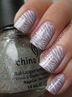 nail art - animal print - China Glaze