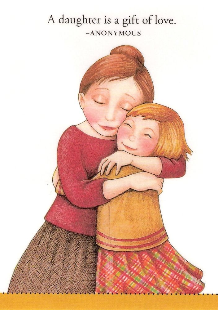 Daughter Is A Gift Of Love Refrigerator File Cabinet Magnet Mary Engelbreit Art