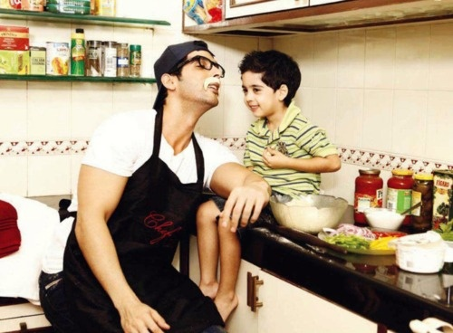 Zayed Khan and his son #Bollywood