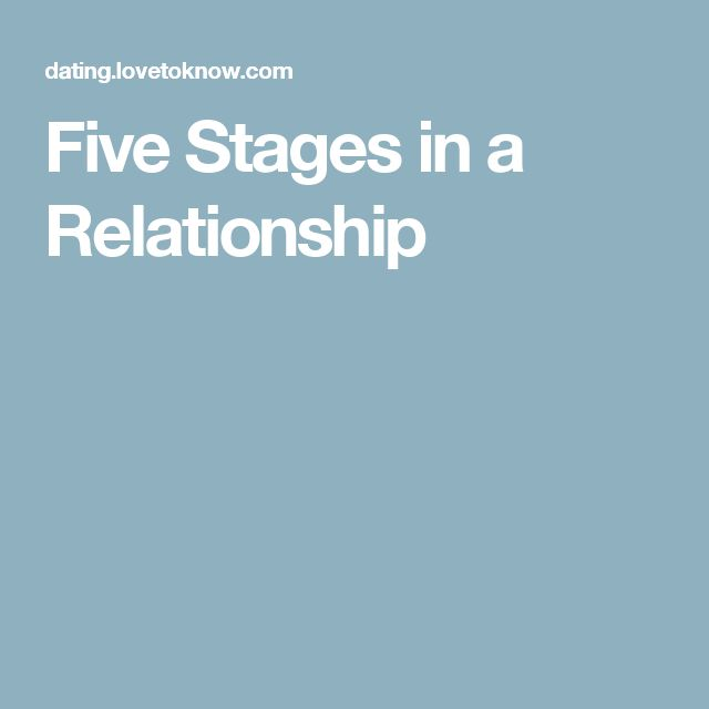 Five Stages in a Relationship